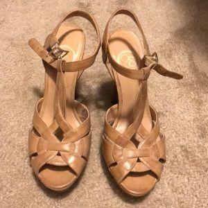 Jessica Simpson Tan Heels